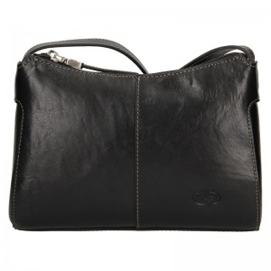 Kožená dámská crosbody kabelka Katana Mauric - černá