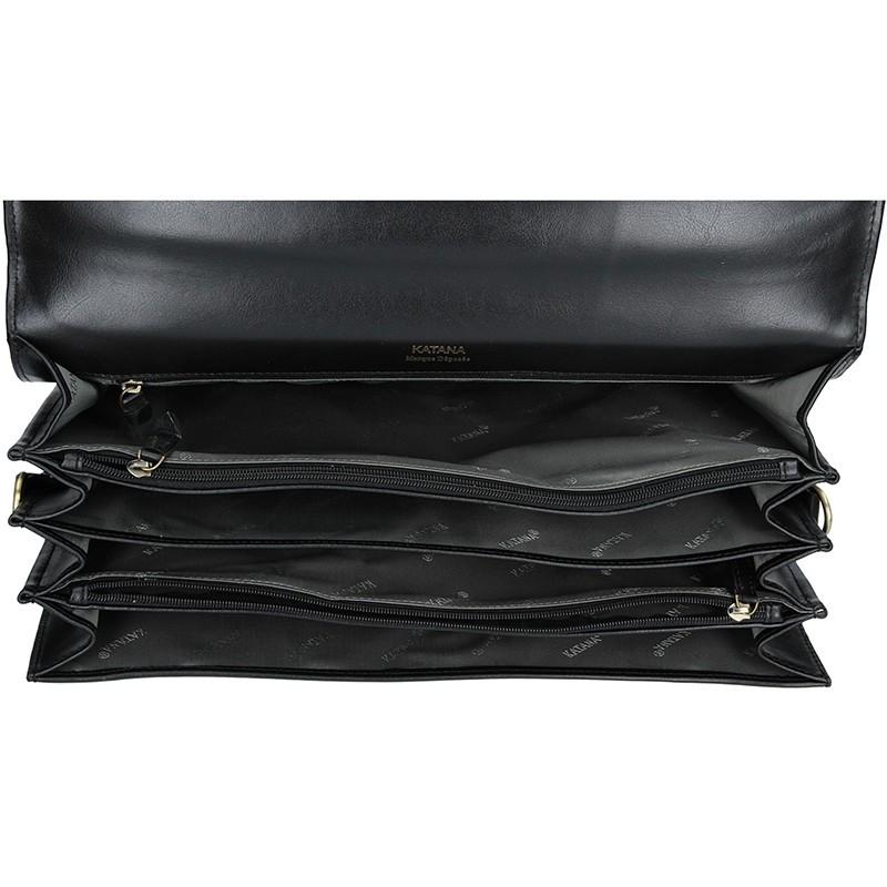 Pánská kožená aktovka Katana Ceasar - černá