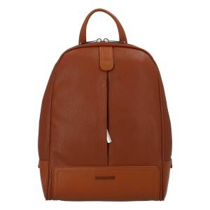 Módní dámský batoh David Jones Karla - koňak