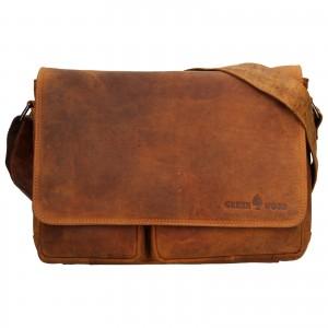 Pánská kožená taška přes rameno Greenwood Josh - světle hnědá