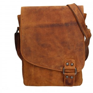 Pánská kožená taška přes rameno Greenwood Jamie - hnědá