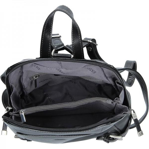 Dámský kožený batoh Katana 82358 - černá