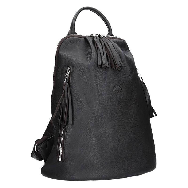 27163f9f11e Dámský kožený batoh Katana 89216 - tmavě hnědá