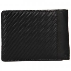 Pánská kožená peněženka Bugatti Trevis - černá
