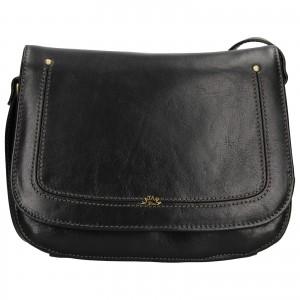 Kožená dámská crosbody kabelka Katana Zorra - černá