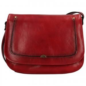 Kožená dámská crosbody kabelka Katana Zorra - tmavě červená