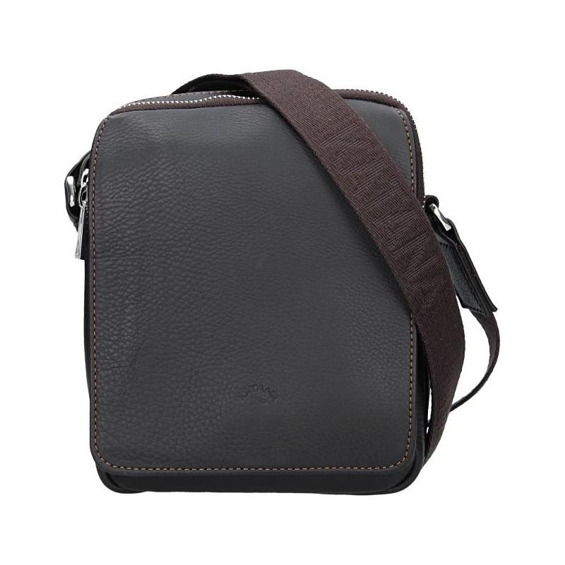 Pánská celokožená taška na doklady Katana Norbert - hnědá 29c2532603