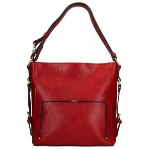 Elegantní dámská kožená kabelka Katana Darina - červená