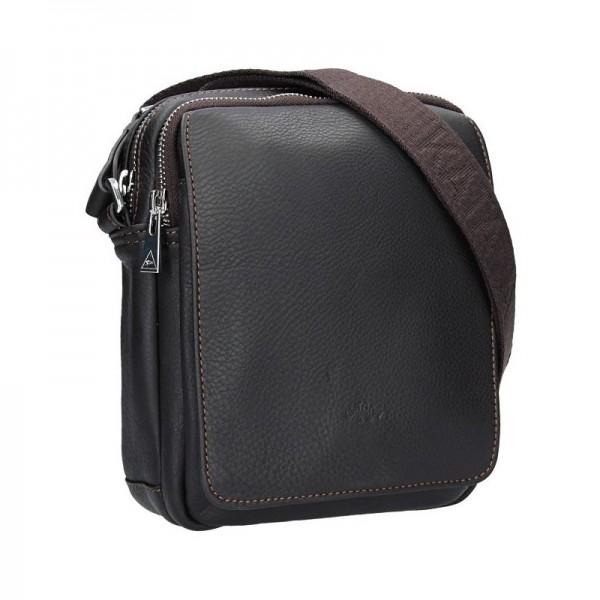 Pánská celokožená taška na doklady Katana Norbert - hnědá
