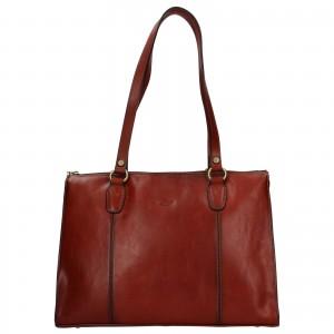 Elegantní dámská kožená kabelka Katana Jarusk - hnědá