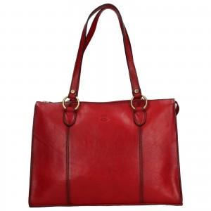 Elegantní dámská kožená kabelka Katana Jarusk - tmavě červená