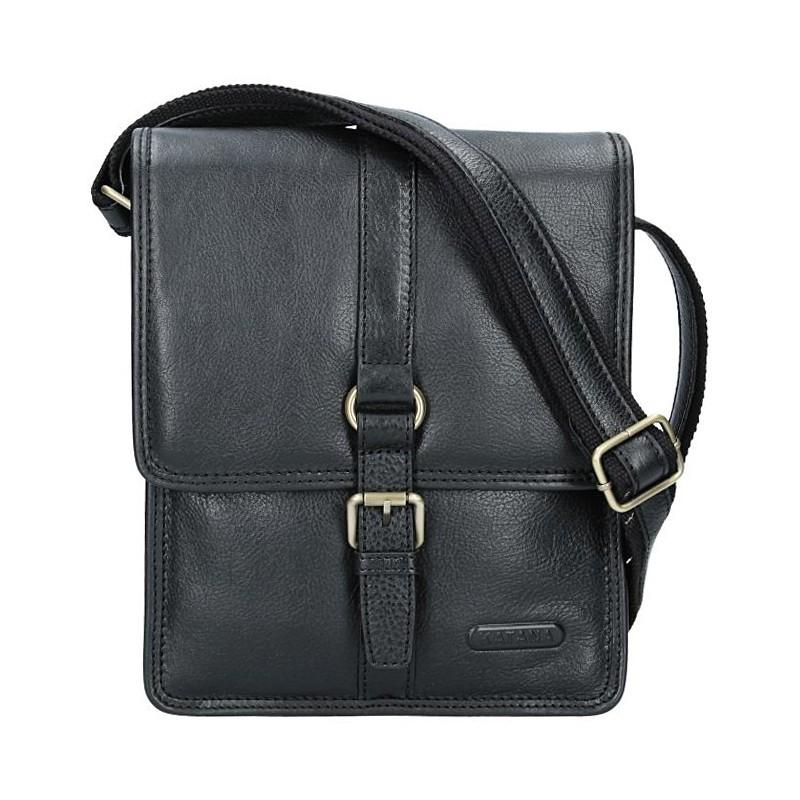 Levně Pánská celokožená taška Katana Bertam - černá