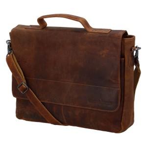Pánská kožená taška přes rameno Greenwood Simons - hnědá