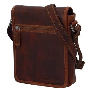 Pánská kožená taška přes rameno Greenwood Felix - hnědá
