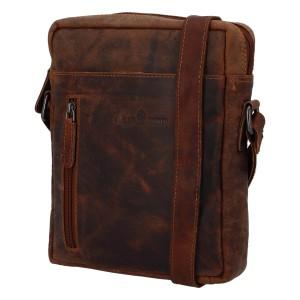 Pánská kožená taška přes rameno Greenwood Vašek - hnědá