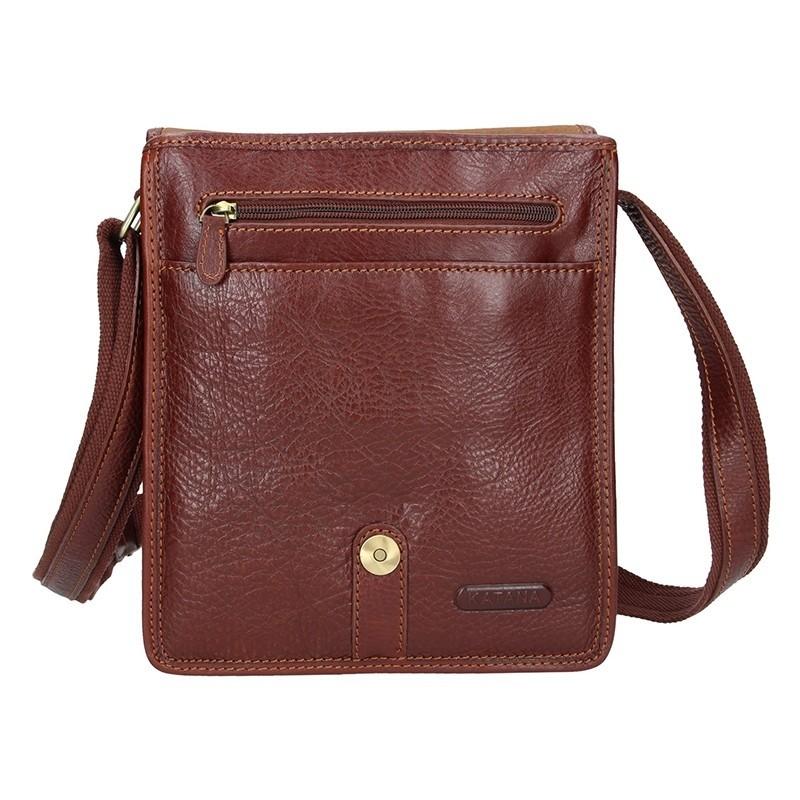 Pánská celokožená taška Katana Bertam - hnědá