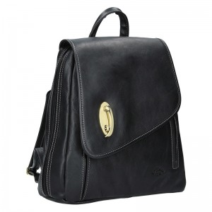 Elegantní dámský kožený batoh Katana Nora- černá