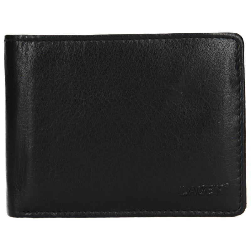 Pánská kožená peněženka Lagen Aleš - černá