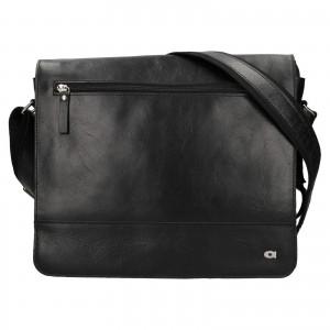 Pánská kožená taška Daag Peter - černá