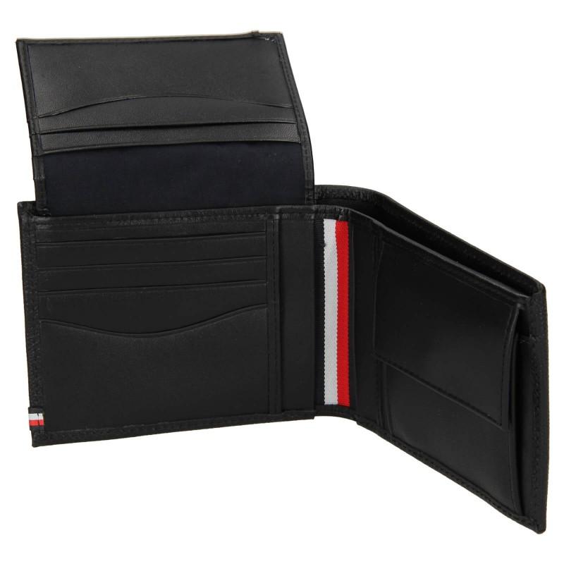 Pánská kožená peněženka Tommy Hilfiger Geonet - černá