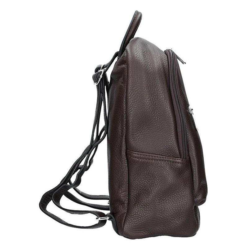 Dámský kožený batoh Katana 83819 - hnědá