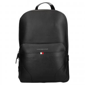 Pánský kožený batoh Tommy Hilfiger Sima - černá