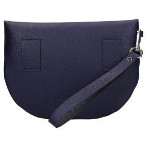 Trendy dámská kožená ledvinka Facebag Alena - modrá