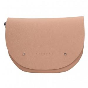 Trendy dámská kožená ledvinka Facebag Alena - růžová
