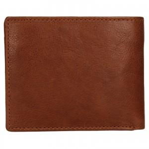 Pánská kožená peněženka SendiDesign Igor - koňak
