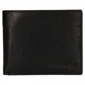 Pánská kožená peněženka SendiDesign Igor - černá
