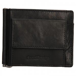 Pánská kožená dolarovka SendiDesign Mauer - černá