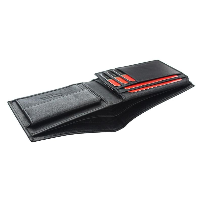 Pánská kožená peněženka Pierre Cardin Oddfrid - tmavě hnědá