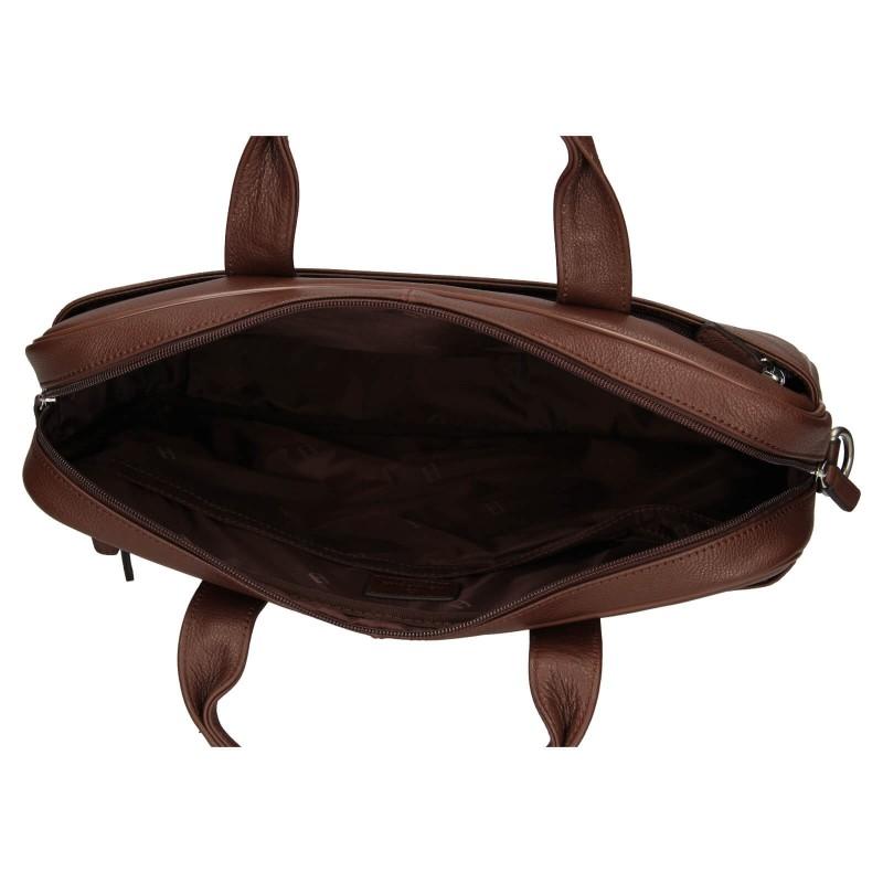 Pánská kožená taška přes rameno Hexagona Tango - koňak