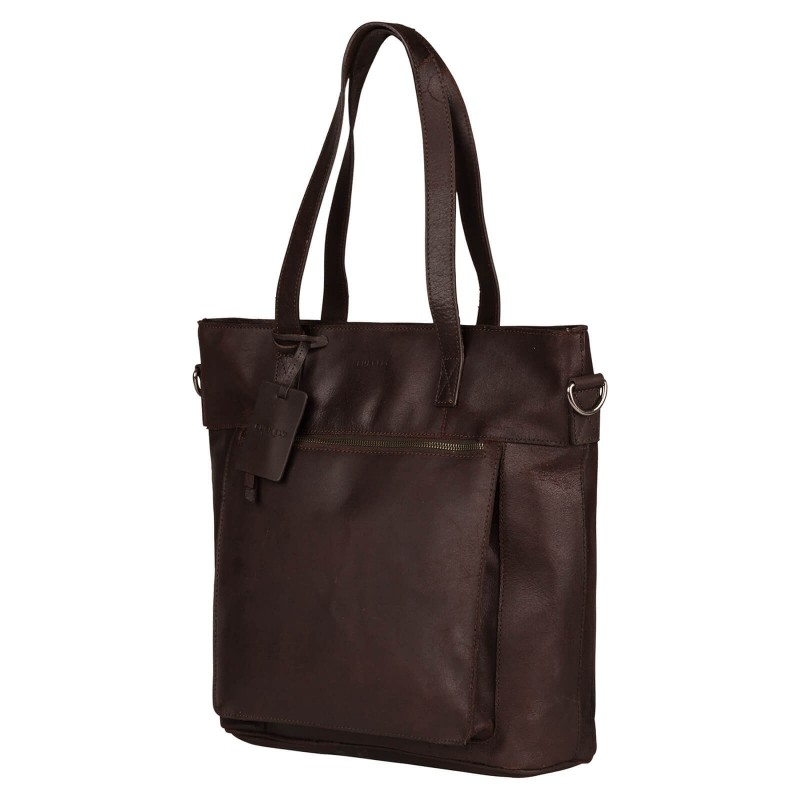 Dámská kožená kabelka Burkely Maria - tmavě hnědá