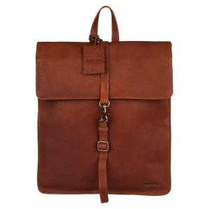 Dámský kožený batoh Burkely Alma - koňak