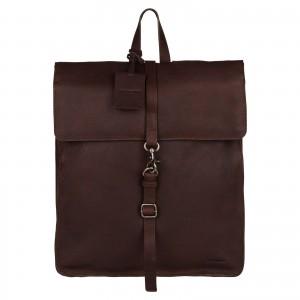 Trendy kožený batoh Burkely Alm - tmavě hnědá
