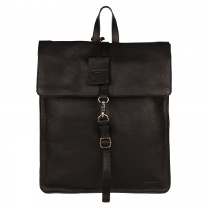 Trendy kožený batoh Burkely Alm - černá