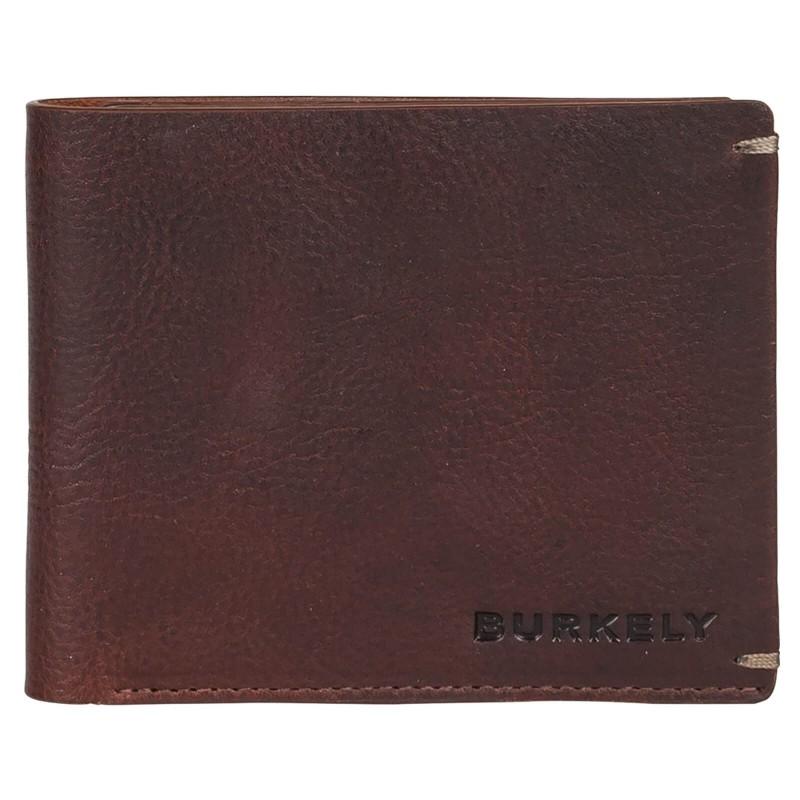 Pánská kožená peněženka Burkely Neah - tmavě hnědá