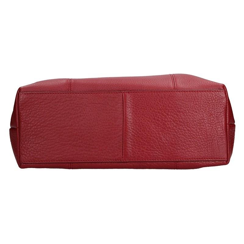 Elegantní dámská kožená kabelka Katana Mia - červená