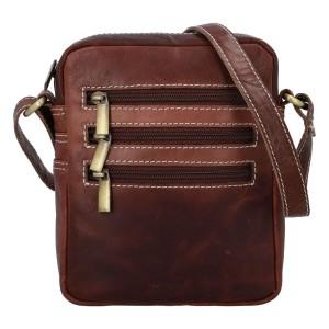 Pánská kožená taška přes rameno Diviley Fion - koňak