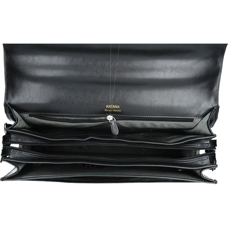 Pánská kožená aktovka Katana Marcus - černá