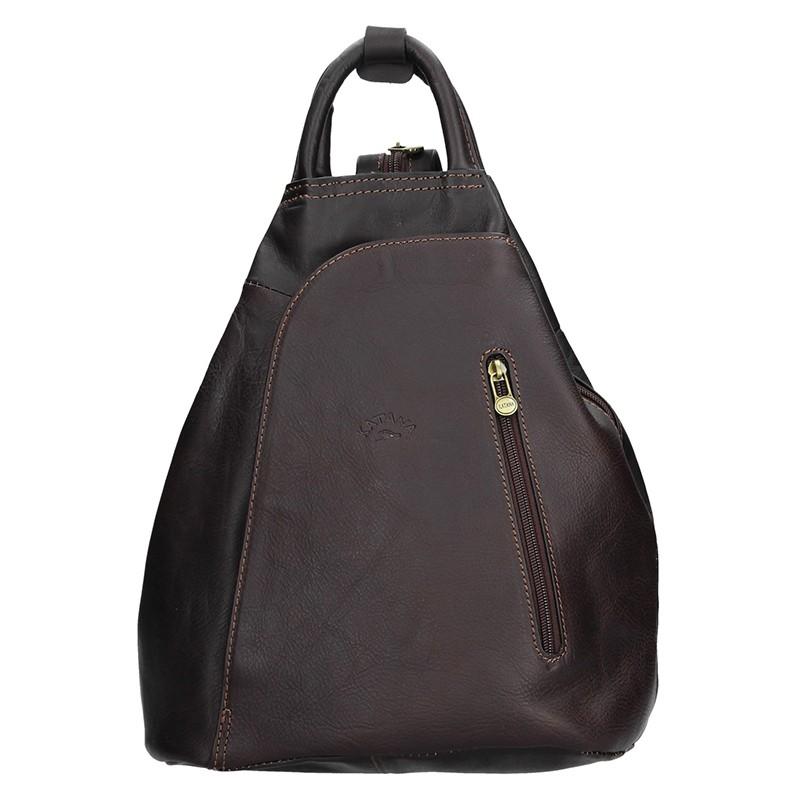 17d6e6438c4 Elegantní dámský kožený batoh Katana Paula - tmavě hnědá