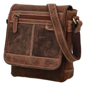 Pánská kožená taška přes rameno Diviley Bredly - koňak