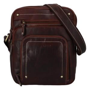 Pánská kožená taška přes rameno Diviley Vilém - koňak