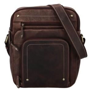 Pánská kožená taška přes rameno Diviley Sedyn - hnědá
