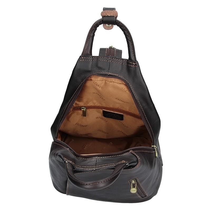 e00058c3f17 Elegantní dámský kožený batoh Katana Paula - tmavě hnědá