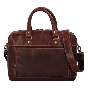 Pánská kožená taška na notebook Diviley Faust - koňak