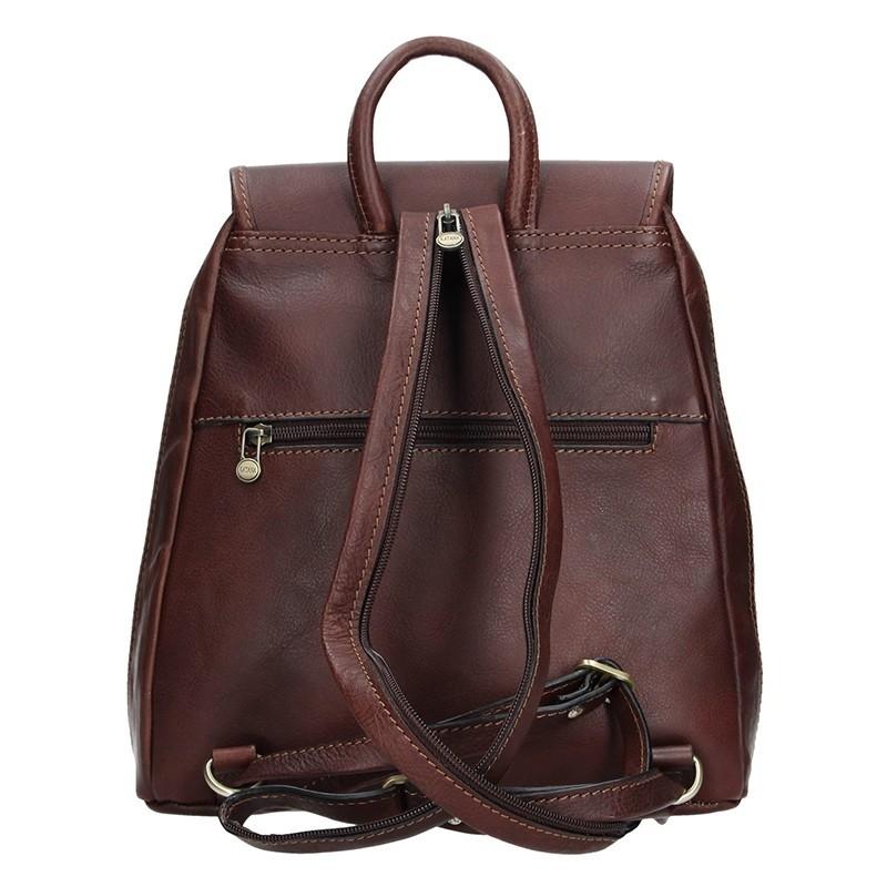 3d99ac2d3ca Elegantní dámský kožený batoh Katana Nora - tmavě hnědá