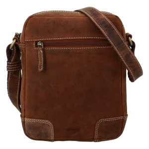 Pánská kožená taška přes rameno Diviley Dylen - koňak