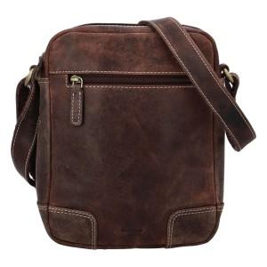 Pánská kožená taška přes rameno Diviley Dylen - hnědá